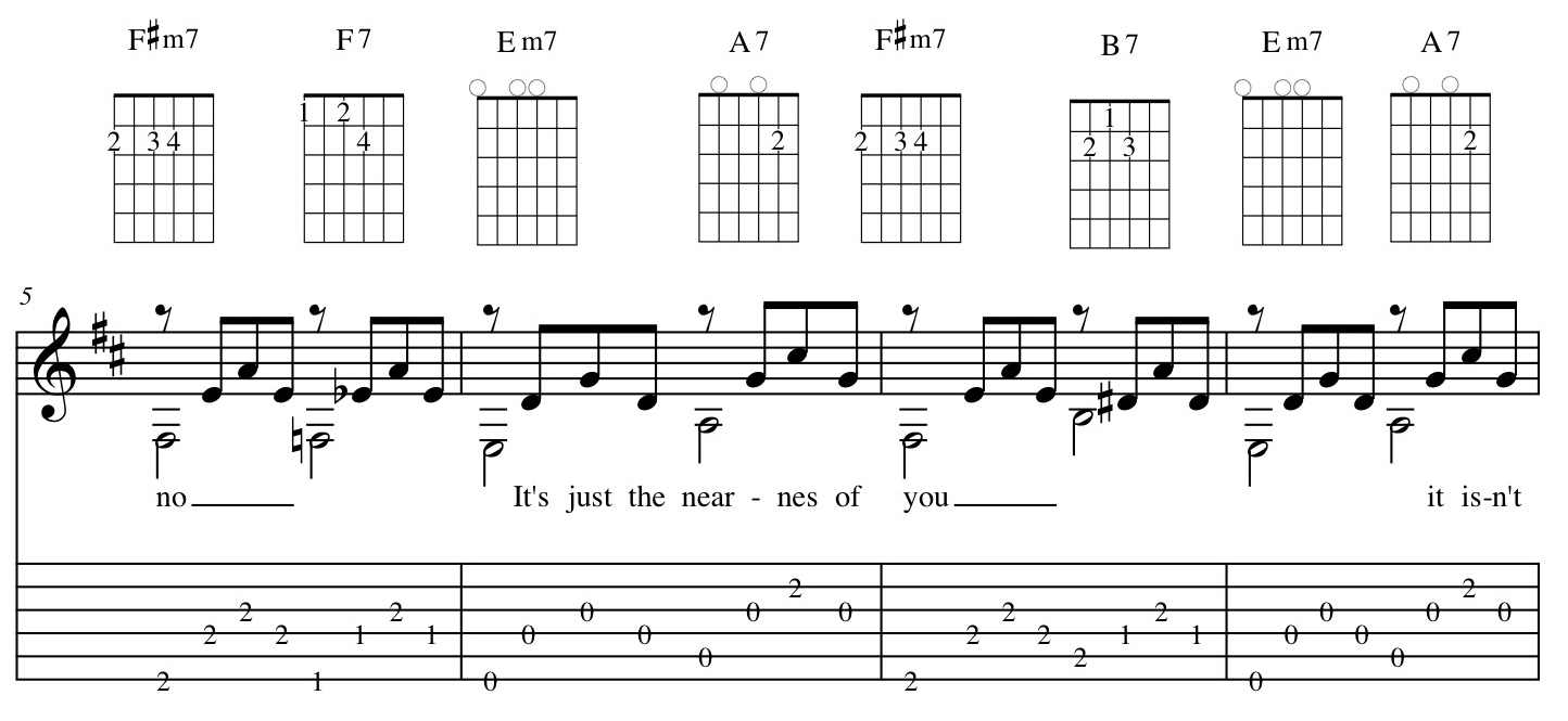 The nearness of you guitar chords measures 5 8 hexwebz Choice Image