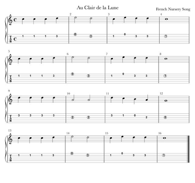 clair de lune pdf guitar
