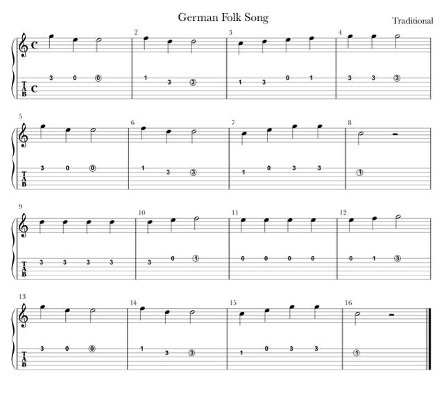 German Folk Song